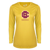 Ladies Syntrel Performance Gold Longsleeve Shirt-Baseball