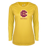 Ladies Syntrel Performance Gold Longsleeve Shirt-Softball