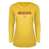 Ladies Syntrel Performance Gold Longsleeve Shirt-Football Yards Design