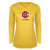 Ladies Syntrel Performance Gold Longsleeve Shirt-Alumni