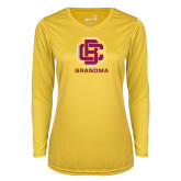 Ladies Syntrel Performance Gold Longsleeve Shirt-Grandma