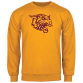 Gold Fleece Crew-Wildcat Head