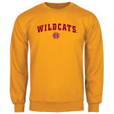 Gold Fleece Crew-Wildcats w/BC