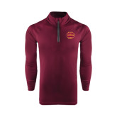 Under Armour Maroon Tech 1/4 Zip Performance Shirt-BC Logo