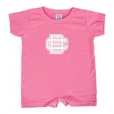 Bubble Gum Pink Infant Romper-BC Logo