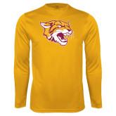 Performance Gold Longsleeve Shirt-Wildcat Head