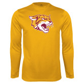 Syntrel Performance Gold Longsleeve Shirt-Wildcat Head
