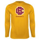 Performance Gold Longsleeve Shirt-Baseball