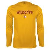 Performance Gold Longsleeve Shirt-Football Yards Design