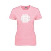 Ladies Pink T-Shirt-BC Logo