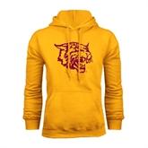 Gold Fleece Hood-Wildcat Head
