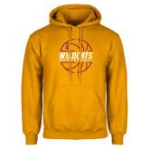 Gold Fleece Hoodie-Basketball In Ball Design