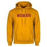 Gold Fleece Hoodie-Bethune Cookman Wildcats Stacked