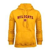 Gold Fleece Hood-Wildcats w/BC