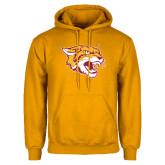 Gold Fleece Hoodie-Wildcat Head