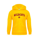 Youth Gold Fleece Hood-Arched Bethune-Cookman Wildcats