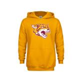 Youth Gold Fleece Hoodie-Wildcat Head