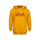 Youth Gold Fleece Hoodie-Wildcats Script
