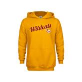 Youth Gold Fleece Hoodie-Wildcats w/Mascot