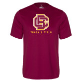 Performance Maroon Tee-Track and Field