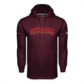 Under Armour Maroon Performance Sweats Team Hood-Bethune-Cookman University
