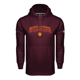 Under Armour Maroon Performance Sweats Team Hood-Arched Bethune-Cookman Wildcats