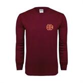 Maroon Long Sleeve T Shirt-BC Logo