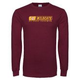 Maroon Long Sleeve T Shirt-Wildcats in Box