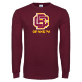Maroon Long Sleeve T Shirt-Grandpa