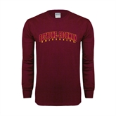 Maroon Long Sleeve T Shirt-Bethune-Cookman University