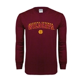 Maroon Long Sleeve T Shirt-Arched Bethune-Cookman Wildcats
