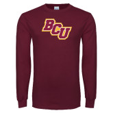 Maroon Long Sleeve T Shirt-BCU