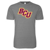 Next Level SoftStyle Heather Grey T Shirt-BCU
