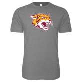 Next Level SoftStyle Heather Grey T Shirt-Wildcat Head