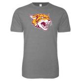 Next Level SoftStyle Heather Grey T Shirt-Wildcat Head