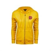 ENZA Ladies Gold Fleece Full Zip Hoodie-BC Logo