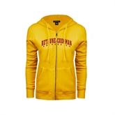 ENZA Ladies Gold Fleece Full Zip Hoodie-Bethune-Cookman University