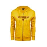 ENZA Ladies Gold Fleece Full Zip Hoodie-Volleyball