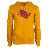 ENZA Ladies Gold Fleece Full Zip Hoodie-BCU
