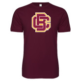 Next Level SoftStyle Maroon T Shirt-Primary Mark