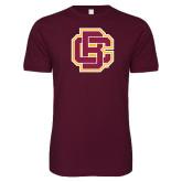 Next Level SoftStyle Maroon T Shirt-Primary Mark