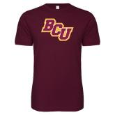 Next Level SoftStyle Maroon T Shirt-BCU