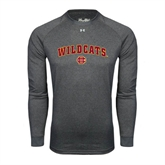 Under Armour Carbon Heather Long Sleeve Tech Tee-Wildcats w/BC