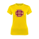 Ladies Syntrel Performance Gold Tee-BC Logo