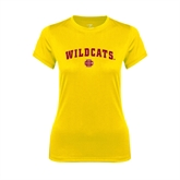 Ladies Syntrel Performance Gold Tee-Wildcats w/BC