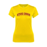 Ladies Syntrel Performance Gold Tee-Bethune-Cookman University