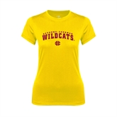 Ladies Syntrel Performance Gold Tee-Arched Bethune-Cookman Wildcats