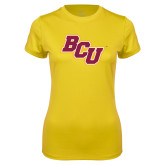 Ladies Syntrel Performance Gold Tee-BCU