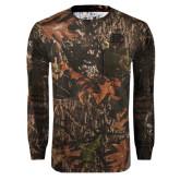 Realtree Camo Long Sleeve T Shirt w/Pocket-BC Logo