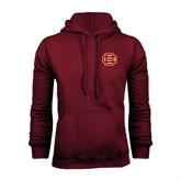 Maroon Fleece Hood-BC Logo